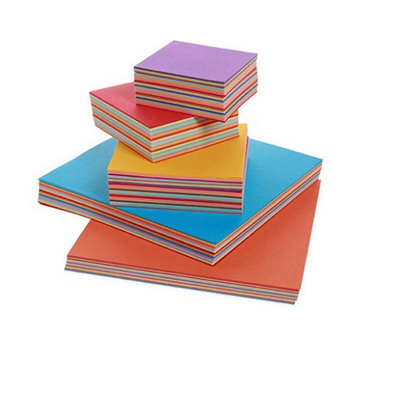 Color Paper Thousand Paper Cranes Origami Square Manual Paper Cutting Parent Child Activities Handicraft Paper Folding