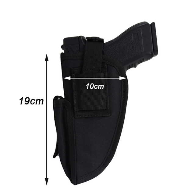 Right Left Hand Gun Holster Concealed Airsoft Pistol Holster for Glock Colt1911 Beretta M9 P226 Pistol Gun Case Magazine Bag 3