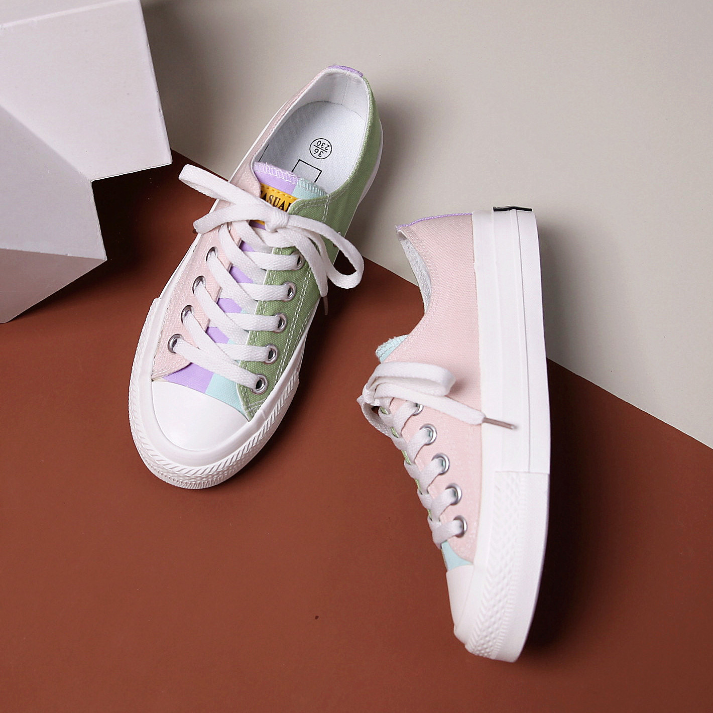 Fashion Canvas Sneakers 2020 Spring New Breathable Comfort Trendy Women's Shoes Female Sports Flats Casual Shoes Women