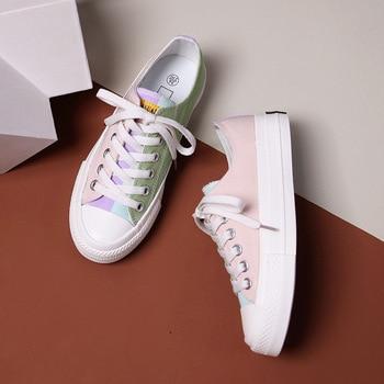 Mode toile baskets 2020 printemps nouveau respirant confort à la mode chaussures pour femmes femmes sport chaussures plates chaussures décontractées femmes