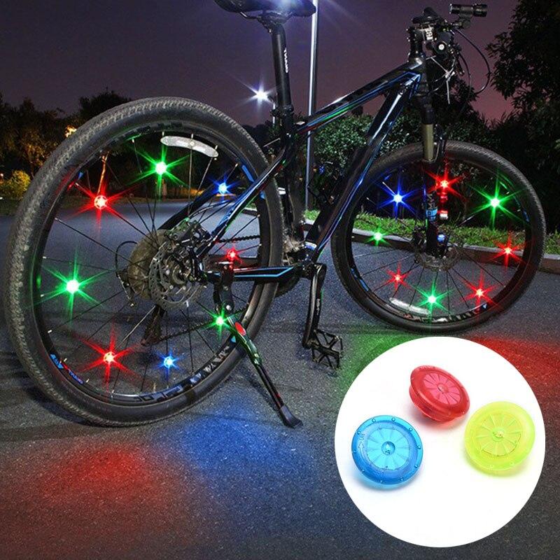 1 Pc a parlé chaîne bande lampe voyant davertissement vélo roue lumières en cours dexécution 2.5cm Mini vélo cyclisme jante LED lumières