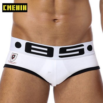 Popular Cotton Quick Dry Mens Briefs Underwear Shorts 2021 New Solid Men's lingerie Sexy Gay Men Bikini Top - discount item  25% OFF Men's Underwears