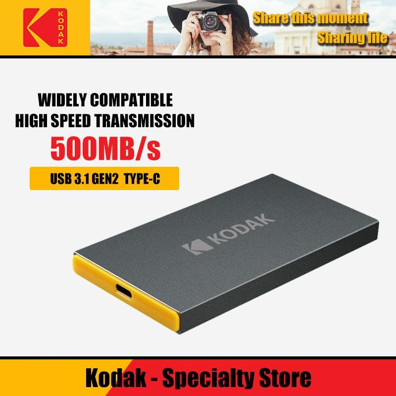 Kodak External solid state drive X250 120G 240GB Portable External hard drive 480GB 960GB SSD USB3.1 Type-c hdd for laptop