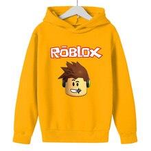 Children Hoodie Roblox Girls Jogging Boys Cartoon Sweatshirt Top Children's Kids Clothes GameNew100CM-160CM Cheeky