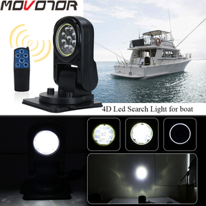 Image 1 - 7 Inch Wireless Foldable 45W Led Work Search Light Remote Control Spot Light Marine Searchlight for Boat SUV Off road trucks