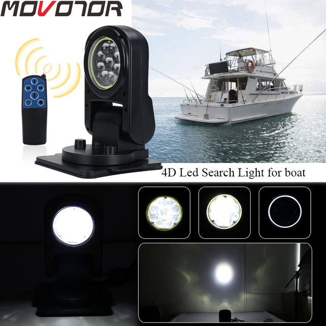 7 Inch Wireless Foldable 45W Led Work Search Light Remote Control Spot Light Marine Searchlight for Boat SUV Off road trucks