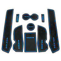 9pcs\/set Car Accessories Gate Slot Pad Rubber Car-cup Interior Cup Cushion Door Mat Cup Stickers Covers For Renault KOLEOS