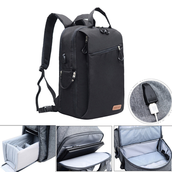 Ourdoor Multi-function Shoulder Bags with Compartments for Canon Nikon DSLR Cameras Accessories Backpack for Laptop Tablets