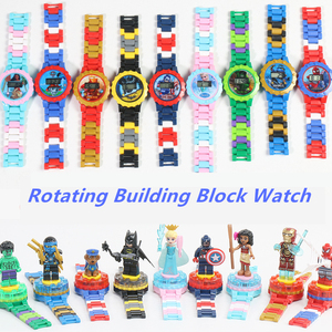 Kids Watch Building Blocks Bricks Toys For Children Watches Compatible LegoINLY NinjagoINLY LegoINGS Duplo LegoINGL MinecraftING(China)