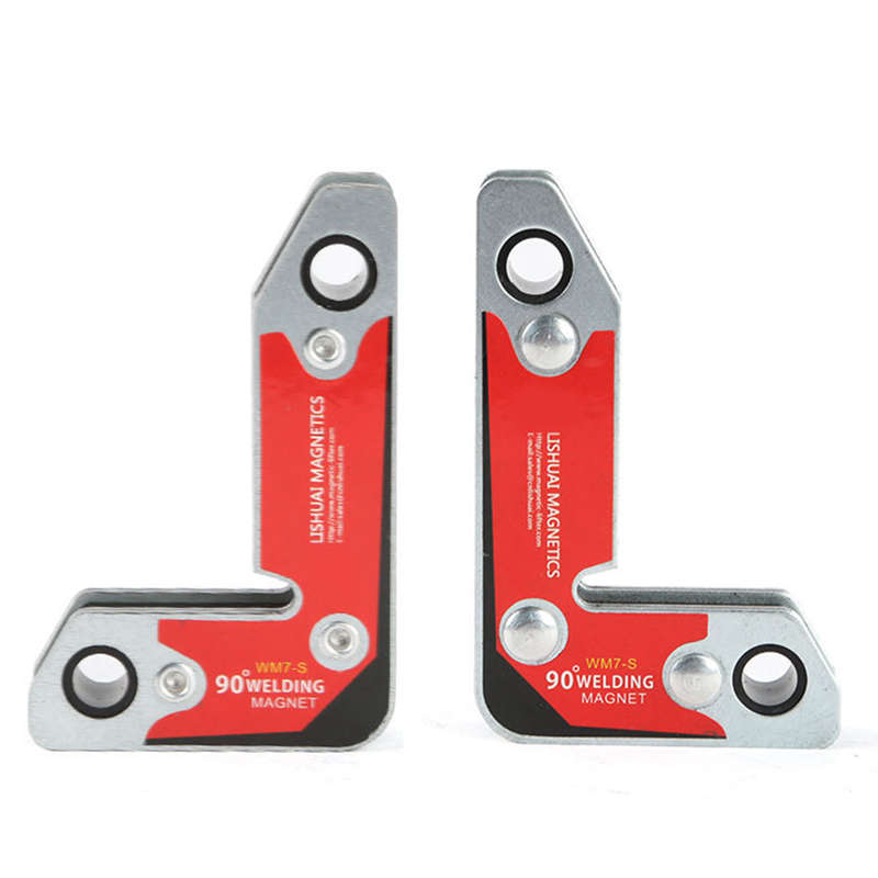 2Pcs Set Wm7-S Magnetic Holder Corner Welding Magnets   Internal And External Right Angle Fixator 30 60 90 Angles Magnetic Clamp