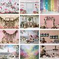 Многоярусная юбка для фотосъемки с изображением двери рамы цветочный фон для фотосъемки с эффектом бокэ опора для художественной портретн...
