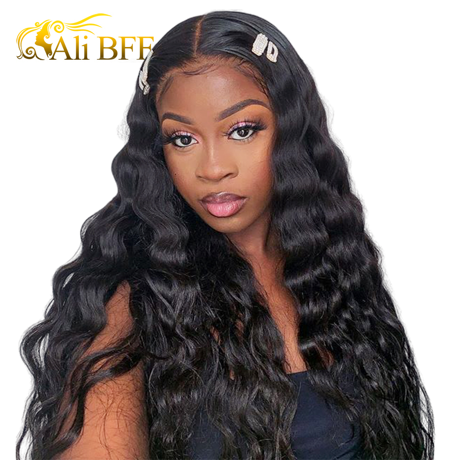ALI BFF Loose Deep Wave Lace Front Wig For Women Remy ALI BFF HAIR Wigs Deep Wave Wig Brazilian Loose Wave Lace Front Wigs