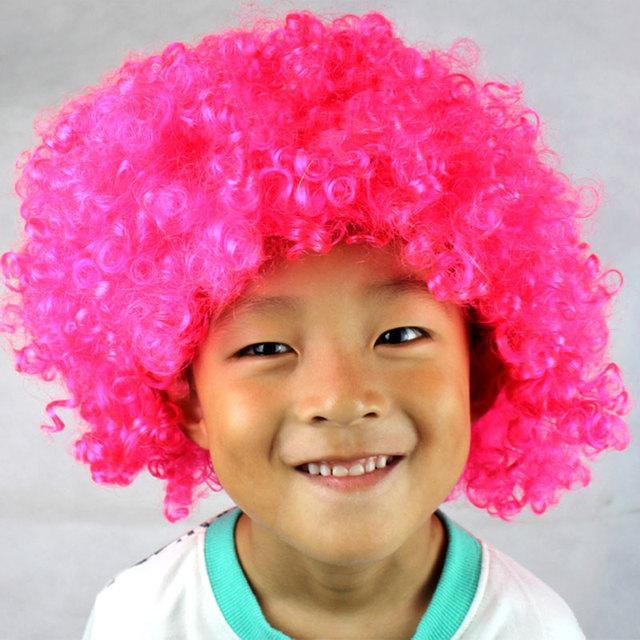 Colorful Halloween Christmas Headdress Clown Dress Up Football Fan Wig Rainbow Wig Dressing Props -MX8