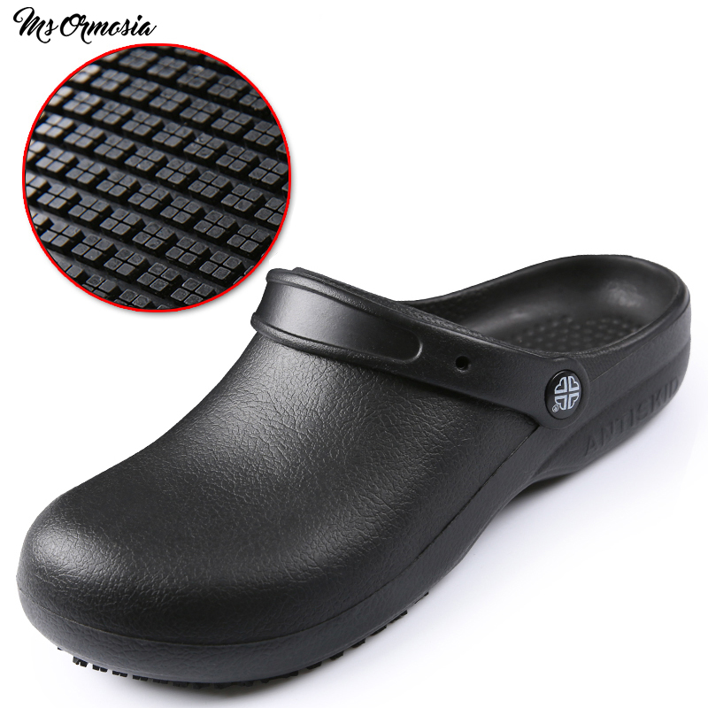 Chef Shoes EVA Non-slip Waterproof Oil-proof Kitchen Work Shoes for Chef Master Cook Hotel Restaurant Slippers Flat Sandals