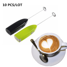 10pcs Handheld Stainless Steel Coffee Milk Drink Electric Whisk Mixer Frother Foamer Battery Operated Kitchen Egg Beater Stirrer все цены