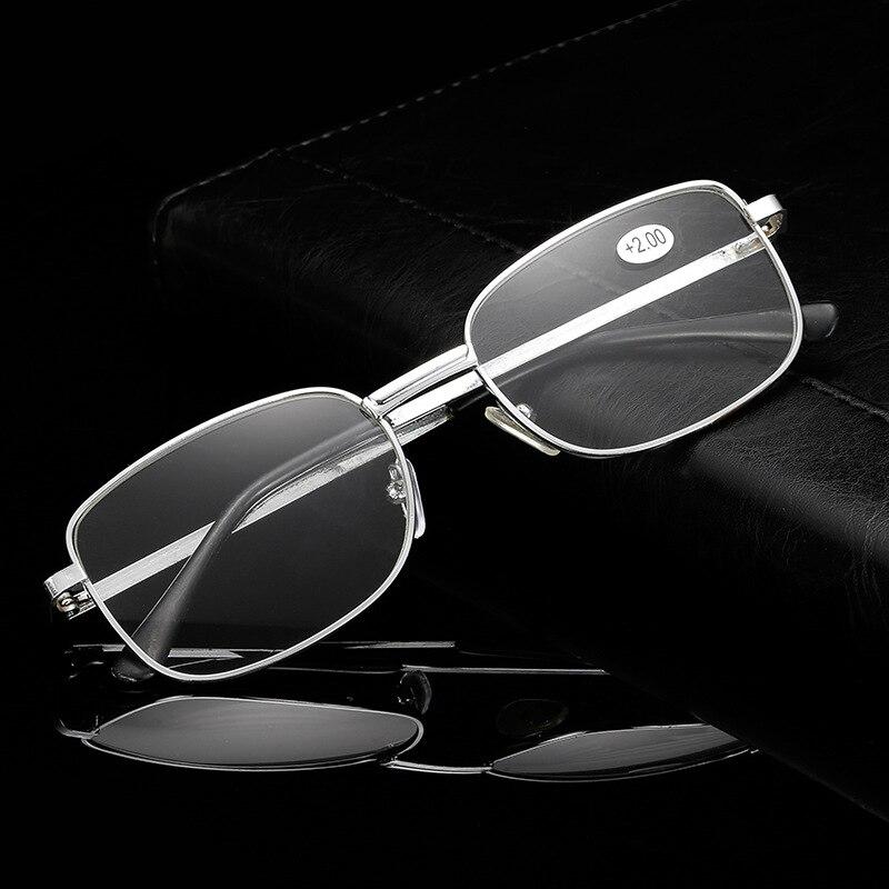 Metal Reading Glasses Resin Fashion Square Frame Diopter Presbyopia Men Women Gold Silver Droppshiping Freeshipping 200 250 150