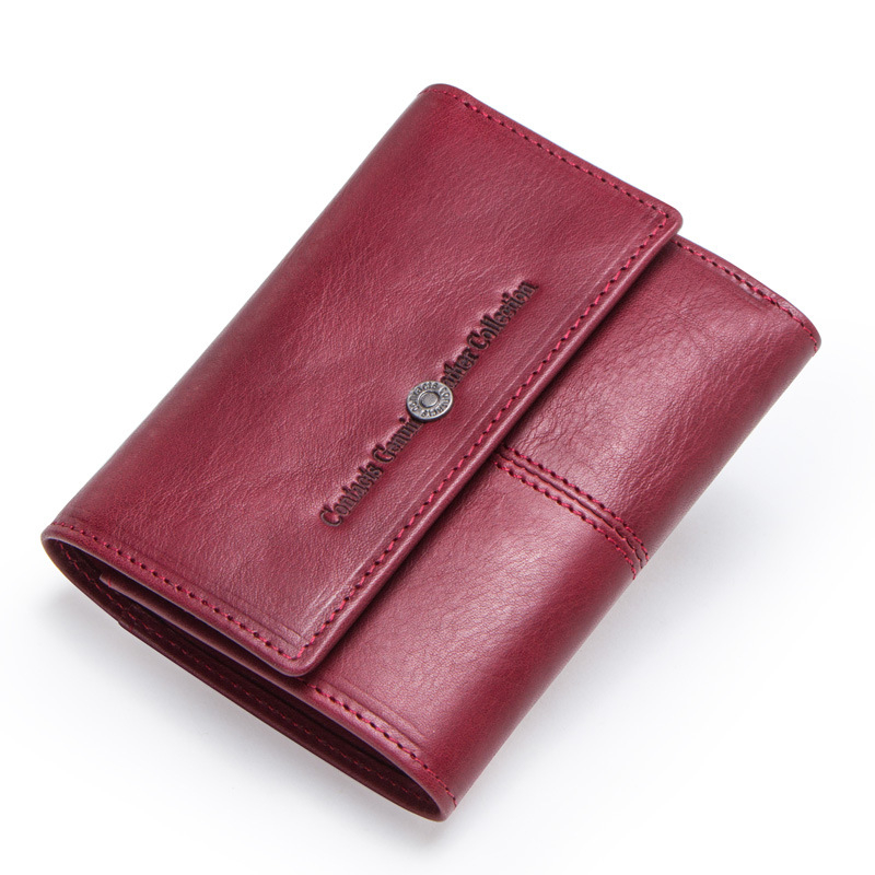 Women's Leather Wallets Luxury Designer Zipper Leather Ladies Billetera Mujer Multi-function Money Bag Porte Feuille Femme