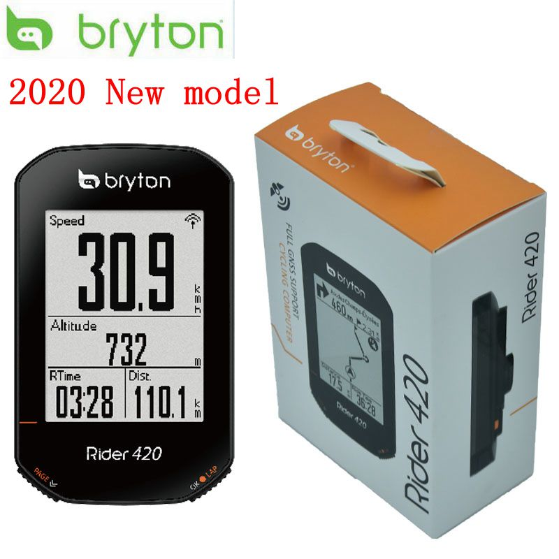Bryton Rider 420 GPS Cycling Enabled Bicycle Bike Computer Mount Waterproof Wireless GPS GNSS / ANT+ Bluetooth Pk Garmin Edge