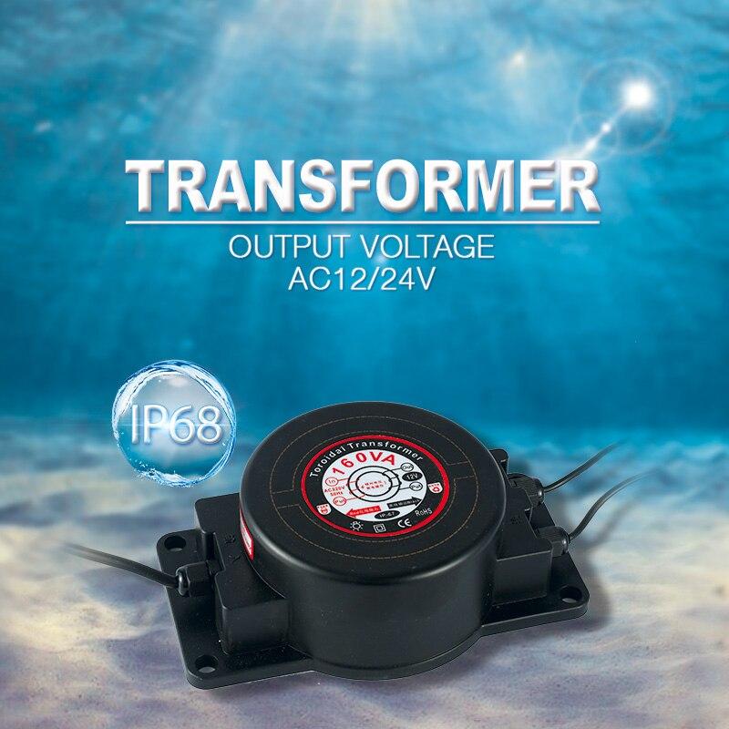 Lighting Transformer AC12V 24V IP67 Waterproof LED Driver 160W Modern Power Supply AC 110V 220V Adapter underwater Pool Lights