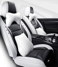 Funda de asiento de coche para mitsubishi lancer x outlander xl 3 space star grandis pajero 4 sport carisma l200, accesorios, color negro y azul