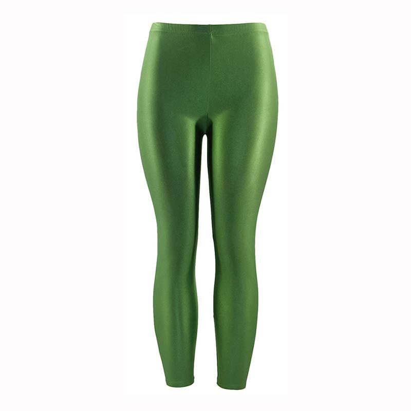 Apparel - Solid Fluorescent Shiny Leggings