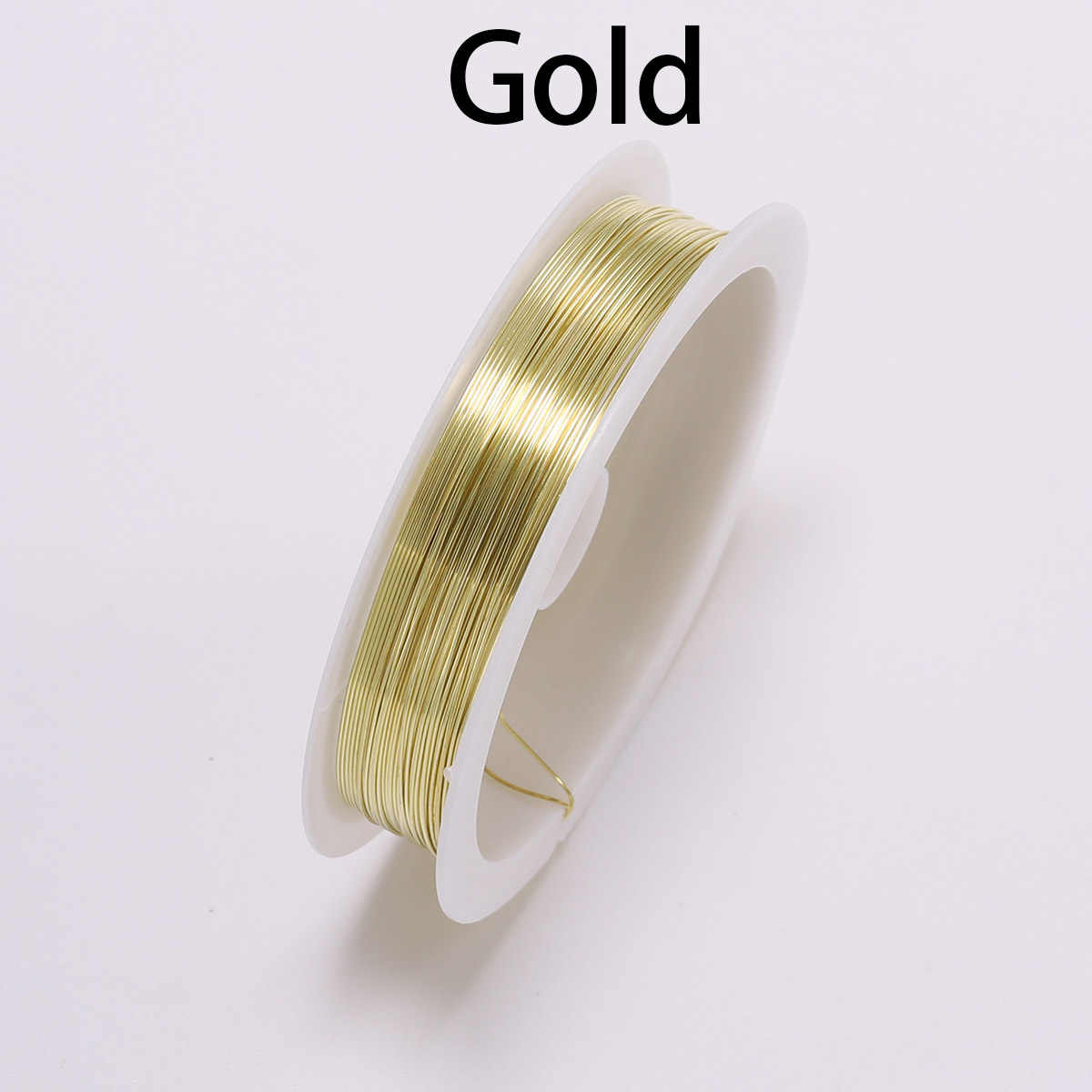 1 rollo de 0,3 0,4 de diámetro de alambre rollo de plata de oro azul de alambre de cuentas de cordón resultados de cadena DIY de cuentas de alambre para hacer joyas de bricolaje