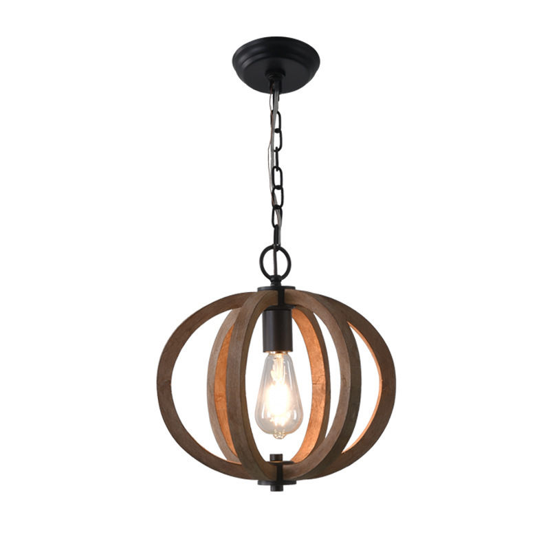 Export light vintage wood pendant nostalgia sitting room light hall bedroom villa decoration do old lamps and lanterns