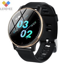Lerbyee Q20 Smart Watch Waterproof IP67 Heart Rate Monitor Fitness Watch Blood Preessure Music Control Call Reminder Smartwatch Men Women Sport Wristband Black Pedometer Hot Sale for iOS Android