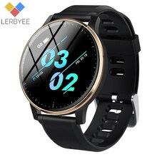 Reloj inteligente Lerbyee Q20 a prueba de agua IP67 Monitor de ritmo cardíaco reloj de ejercicio sangre Preessure Control de música recordatorio de llamada Smartwatch hombres mujeres pulsera deportiva podómetro negro gran venta para iOS Android