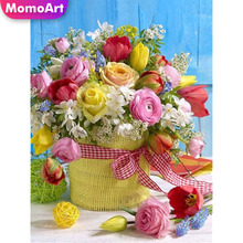 MomoArt 5D Diamond Painting Flowers Full Drill Square Rhinestone DIY Diamond Embroidery Cross Stitch Gift Home Decoration momoart 5d full drill square diamond painting flowers diy diamond embroidery daisy cross stitch home decoration gift