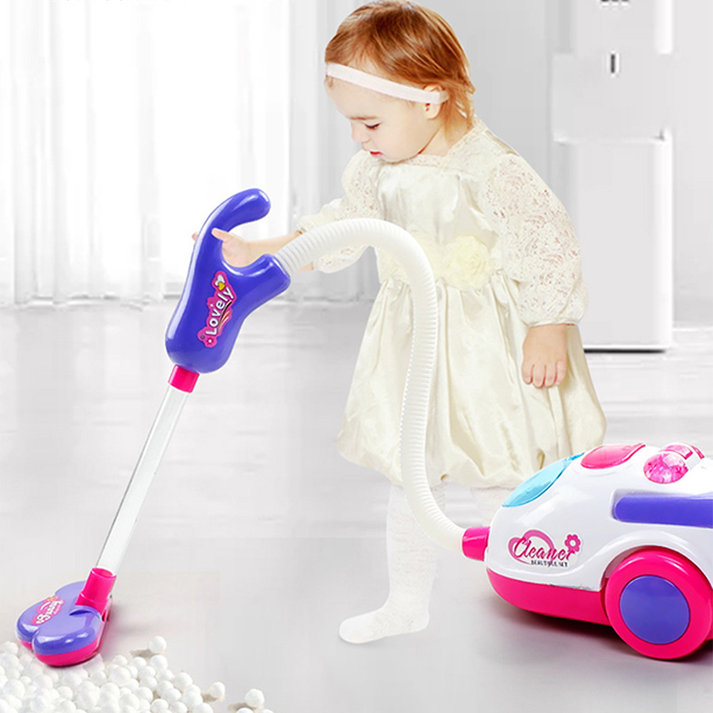 Electric Kids Gift Realistic Simulation Educational Toys Role Play Battery Powered Lightweight WIth Light Sound Vacuum Cleaner
