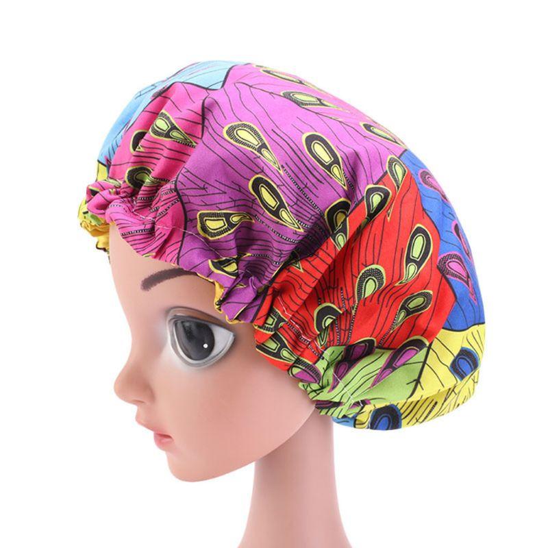 1Pc Baby Hat African Print Ankara Satin Bonnet Sleep Cap Turban Hat Night Sleep Beanie Chemo