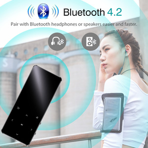 Image 2 - Aismart MP3 Player with Bluetooth Speaker Touch key Built in 8GB 16GB HiFi Metal Mini Portable Walkman with radio FM recording