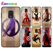 Silicone Black Cover Avenger Marvel Superhero For Xiaomi Redmi Note 9 9S Pro Max 8T 8 7 6 5 Pro 5A 4X 4 Phone Case Bag ennis parlov loughridge fury max 2012 marvel 4
