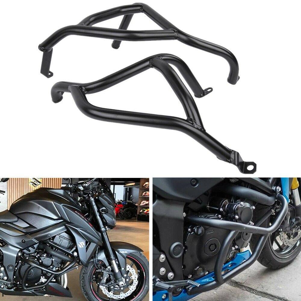 Motorcycle Steel Stunt Cage Crash Bar Engine Frame Guard Bumper Protector for 2017-2018 Suzuki GSX-S 750 GSX S Black