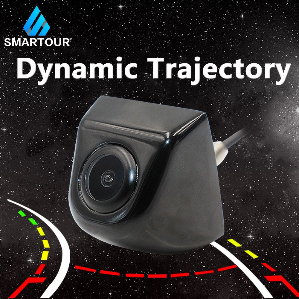 Smartour Intelligent Auto HD Car Backup Reverse Trajectory Camera Parking aid Universal  Rear View Camera Dynamic Guideline