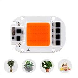 Светодиодный светильник для выращивания 20 Вт, 30 Вт, 50 Вт, 110 В, 220 В, полный спектр, нм ~ нм, лучший для гидропоники, теплицы, сделай сам, светодио...