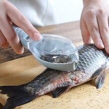Легко чистить пластиковый инструмент для очистки рыбы кухонный инструмент с крышкой кухонная утварь рыбные Весы Ручной скребок