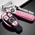 ZOBIG TPU + PC Araba Anahtarı Durum katlanır anahtar Tutucu Zincir Yüzük Mercedes Benz W203 W210 W211 W124 W202 W204 AMG