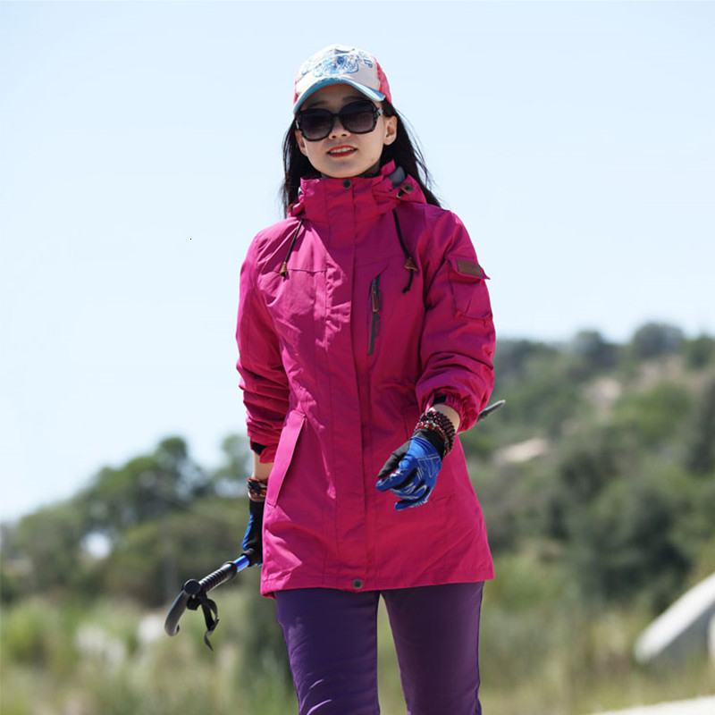3 In 1 Winter Large Size 5XL Outdoor Camping Hiking Windbreaker Men Women Clothes Waterproof Windproof Fishing Hunting Jackets