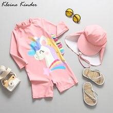 Купальный костюм с длинными рукавами для маленьких девочек детский