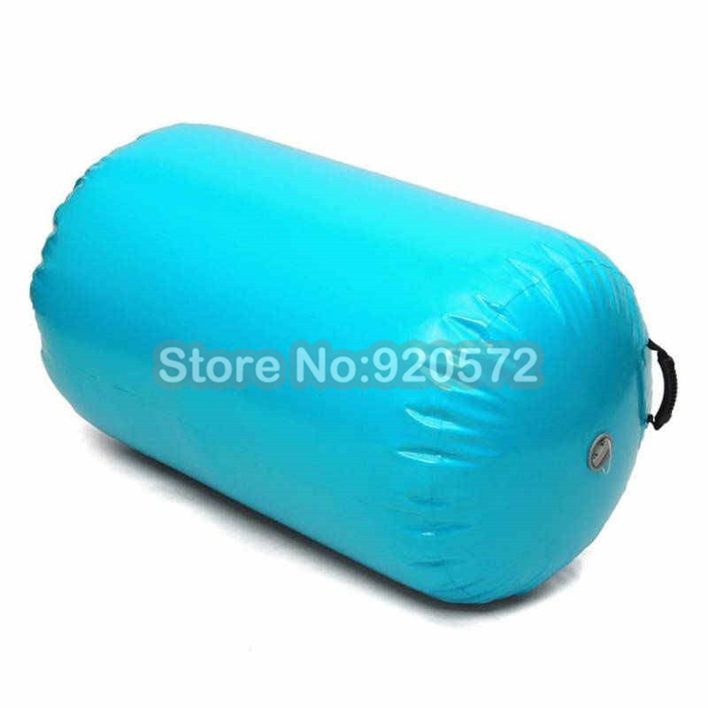 Free Shipping 0.6x1m PVC Material Made Gymnastics Exercise Use Inflatable Air Roll