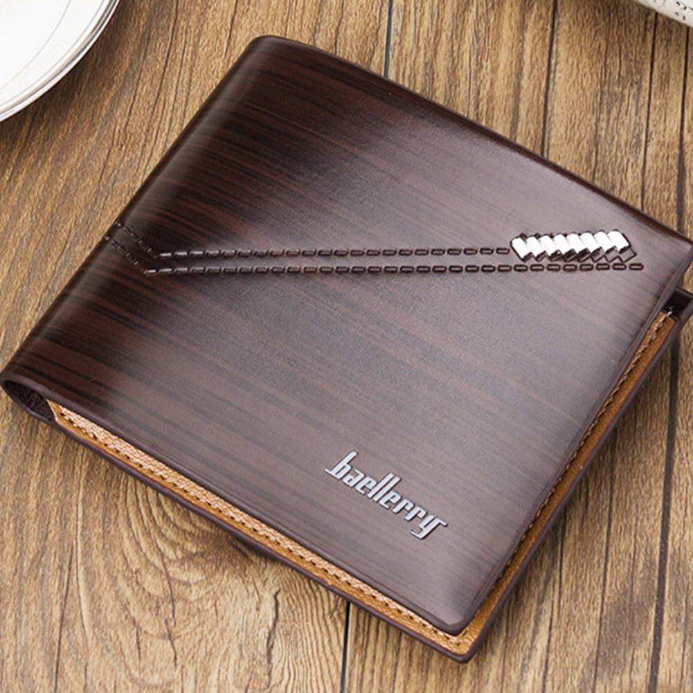 Wallets for Men Bifold Slim PU Leather Short Purse Credit Cards Holder Business LXX9