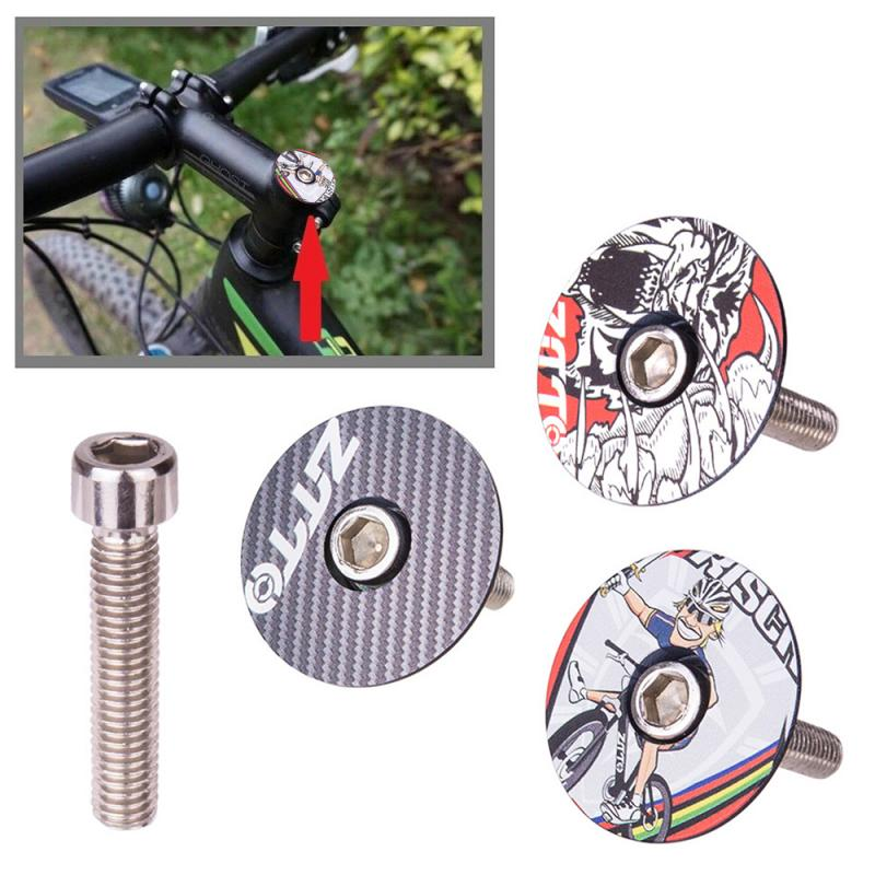 "Bike Cycling Bicycle MTB Aluminum Alloy Stem Top Cap Headset 1 1//8/"" 28.6mm"