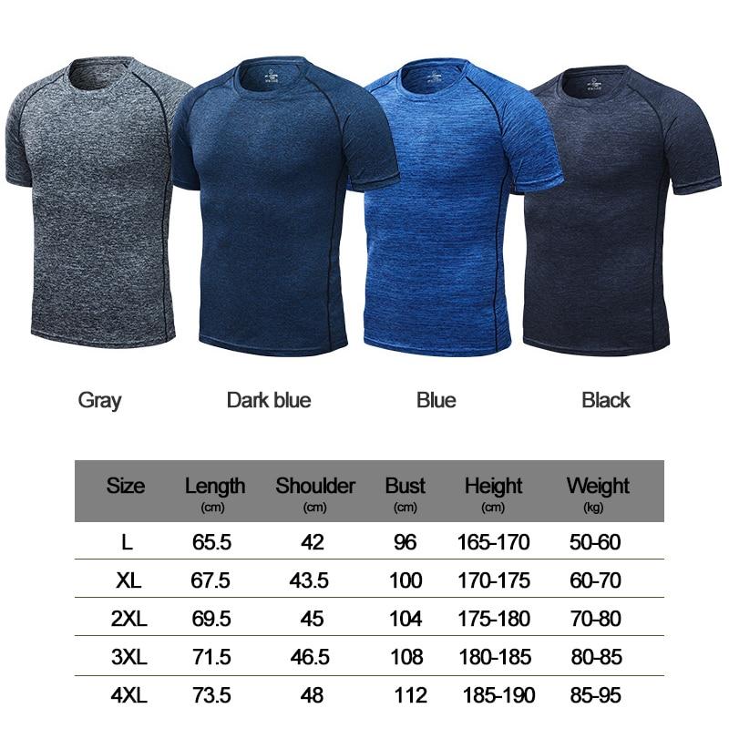 1pcs Ramdon color - Men's running T-shirt