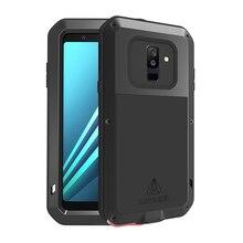 Metalowa obudowa do Samsung Galaxy A6 2018 Case A8 odporna na wstrząsy pokrywa 360 pełna ochrona telefonu pancerz do etui Samsung A6 2018 Plus A 6