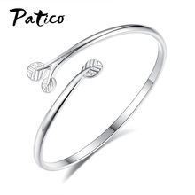 Korean Stylish 925 Sterling Silver Tree Branch Adjustable Bracelet & Bangle For Women Pulseras Mujer Daliy Jewelry Lovers Gift