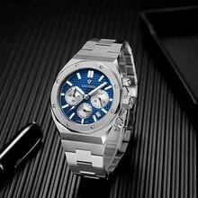 CADISEN New Sapphire Men's Watch Quartz Vk63 304Stainless Watch 100M Waterproof Top Brand Casual Business Watch