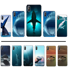 shark Animal Cartoon cool Luxurious Soft Luxury black Phone Case For iphone 4 4s 5 5s 5c se 6 6s 7 8 plus x xs xr 11 pro max(China)