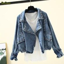 Smlinan Harajuku Streetwear Denim Jacket Coat Women Spring A